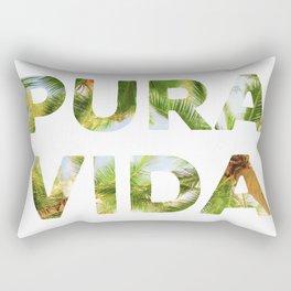 Pura Vida Costa Rica Palm Trees Rectangular Pillow