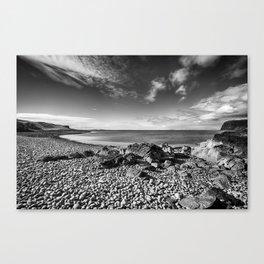 Rocky Beach Milovaig Isle of Skye Canvas Print