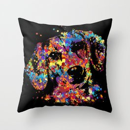 Colorful Dachshund dog  - Doxie Throw Pillow
