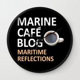 Marine Cafe Blog Wall Clock