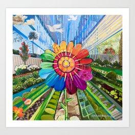 """A""""Garden Mandala"""" Art Print"""