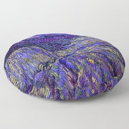Lavender Fields with Rising Sun by Vincent van Gogh Floor Pillow