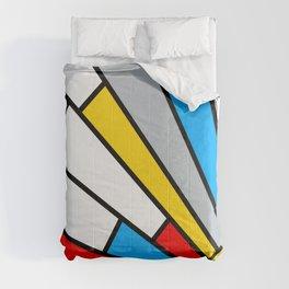 Minimal De Stijl Retro Sun Ray Color Composition Comforters