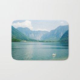Blue Alps Lake Landscape Bath Mat