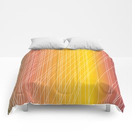 Sideways Sunset Comforters