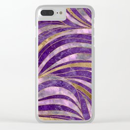Amethyst and Fluorite Wavy Pattern Clear iPhone Case