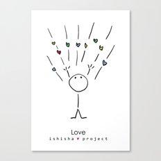 LOVE by ISHISHA PROJECT Canvas Print