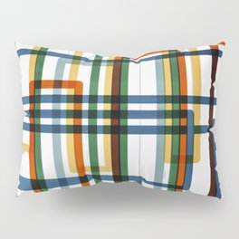 Abstract Lines - 5 Line Metro Map Pillow Sham