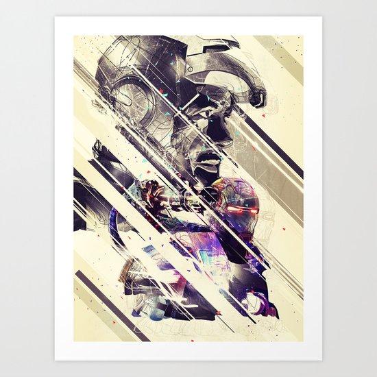 Iron Man & Warhammer // Part I Art Print