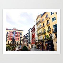 Bilbao plaza Art Print