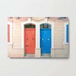 Neighbours | Malta Doors  Metal Print