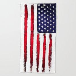 Vintage American flag Beach Towel