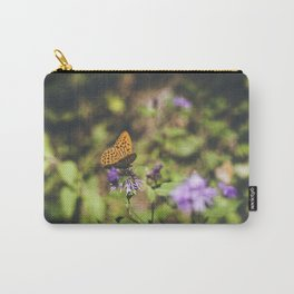 Butterfly on the wild flowers Carry-All Pouch