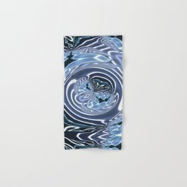 Crinkled Ribbon Swirls (1970's Vintage) Hand & Bath Towel