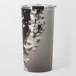 Black & Silver Grey Photograph Liquid Metal #2 Travel Mug