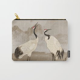 Wintering Manchurian Cranes Carry-All Pouch