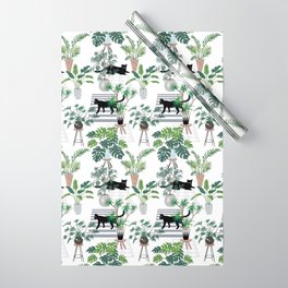 cats in the interior pattern Wrapping Paper