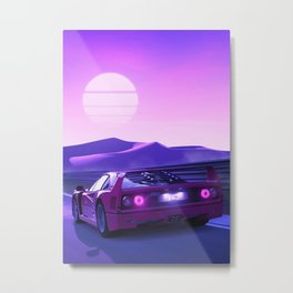 f40 run sunset Metal Print