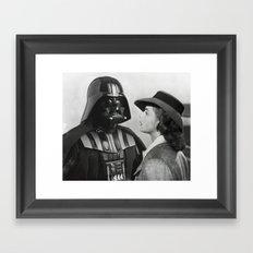 Darth Vader in Casablanca Framed Art Print