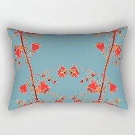 2941-Illawarra-Flame-Tree#1-Teal Rectangular Pillow