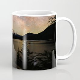 BODY OF WATER NEAR TREES DURING NIGHT TIME Coffee Mug