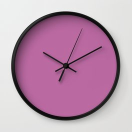 Shock of Violet Solid Color Collection Wall Clock