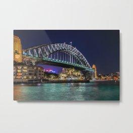 Sydney Harbor Bridge at Night Metal Print
