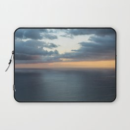 Dramatic sky and beautiful sunset over Atlantic ocean in Madeira island, Portugal. Laptop Sleeve