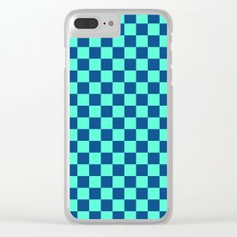 Checkered Pattern VI Clear iPhone Case