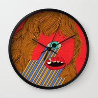 melissa smith Wall Clocks featuring Smith Eyed by Roland Lefox
