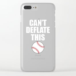 Can't Deflate This Baseball Sports Tough T-Shirt Clear iPhone Case