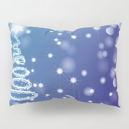 Christmas background with bokeh and snowflake Pillow Sham