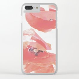 Pastel Poppies Clear iPhone Case