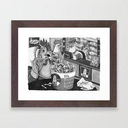Kentucky Fried Human Framed Art Print