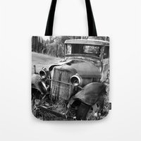 truck Tote Bags featuring Old Truck by WhyitsmeDesign
