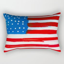 Red, White, and Blue Rectangular Pillow