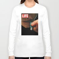 marijuana Long Sleeve T-shirts featuring LIFE MAGAZINE: Marijuana by Tia Hank
