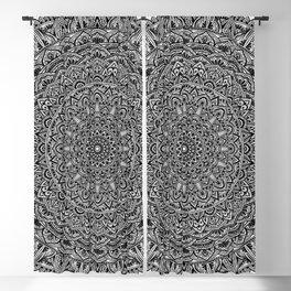 Zen Black and white Mandala Blackout Curtain