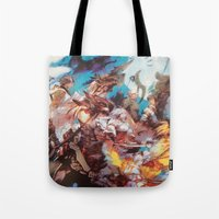 final fantasy Tote Bags featuring Final Fantasy by Tamika