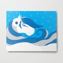 Horse Bride Metal Print