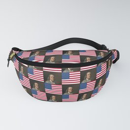 Flag and portrait :  Benjamin Franklin Fanny Pack