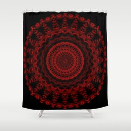 Snowflake #004 solid Shower Curtain