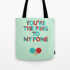 Love is like ping pong Tote Bag