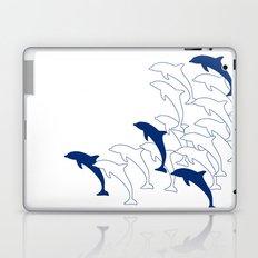 Animals Illustration - Dolphins Laptop & iPad Skin