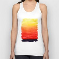 sunset Tank Tops featuring Sunset by Timone