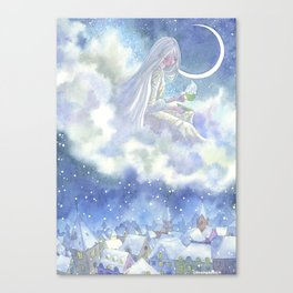 On the Cloud Canvas Print