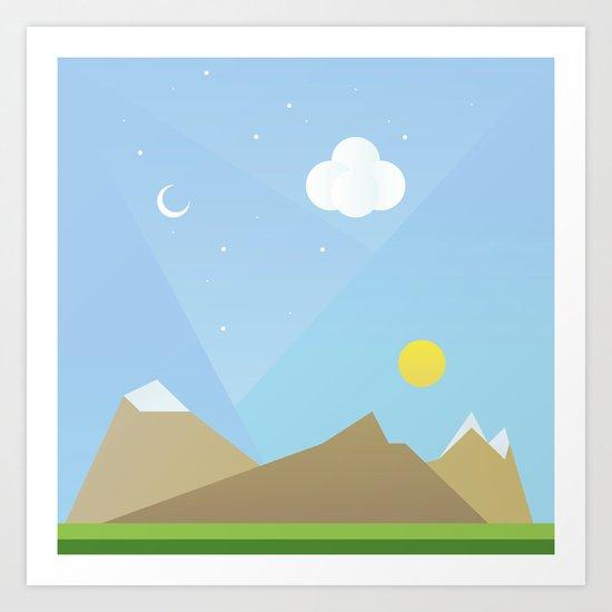 Simple plan Art Print