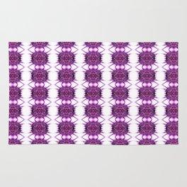 Purple Spiked Repeat Pattern Rug