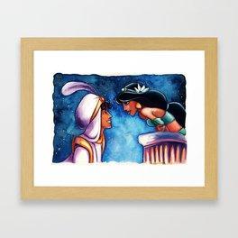 Aladdin and Jasmine Framed Art Print