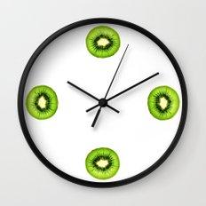 Kiwi Fruit Slice Wall Clock